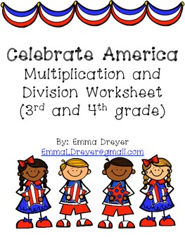 Celebrate America Multiplication and Division Worksheet