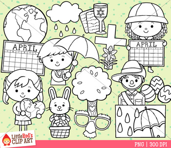 Celebrate April Clip Art