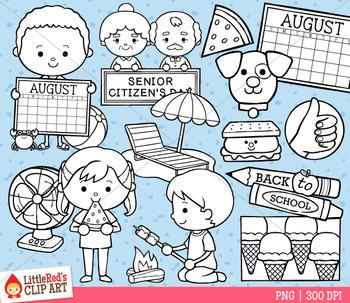 Celebrate August Clip Art