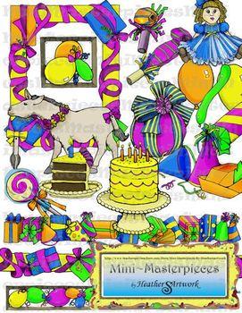Clip Art: Birthday Present Celebration by HeatherSArtwork