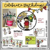 Celebrate Birthdays!..Editable Tags, Cards, Bookmarks, Hom
