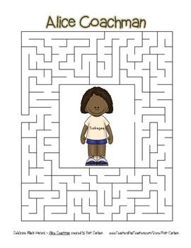 Celebrate Black History Month - Alice Coachman - Easy Maze! (color version)