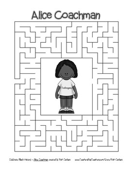Celebrate Black History Month - Alice Coachman - Easy Maze! (grayscale)