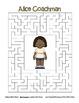 Celebrate Black History Month – Alice Coachman - Word Search, Scramble, & Maze!