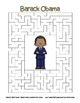 Celebrate Black History Month -  Barack Obama - Word Search, Scramble, and Maze!