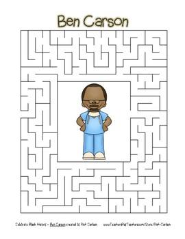Celebrate Black History Month - Ben Carson - Easy Maze! (color version)