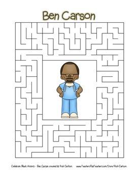 Celebrate Black History Month – Ben Carson - Word Search, Scramble, and Maze!