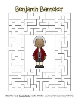 Celebrate Black History Month - Benjamin Banneker - Easy Maze! (color version)
