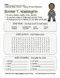 Celebrate Black History Month – Booker T. Washington - Search, Scramble&Maze!
