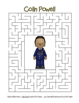Celebrate Black History Month - Colin Powell - Easy Maze! (color version)