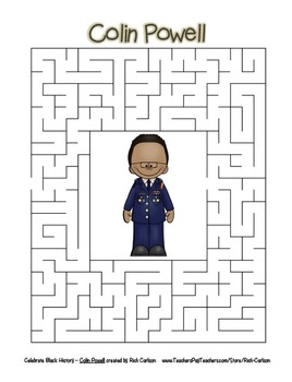 Celebrate Black History Month – Colin Powell - Word Search, Scramble, and Maze!