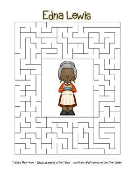 Celebrate Black History Month - Edna Lewis - Easy Maze! (color version)