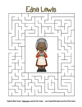 Celebrate Black History Month – Edna Lewis - Word Search, Scramble, and Maze!
