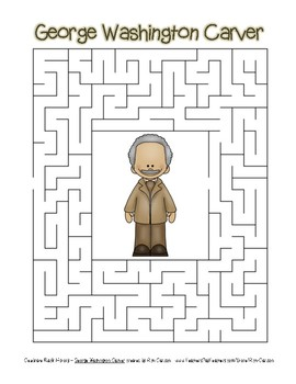 Celebrate Black History Month - George Washington Carver -Easy Maze!(color ver.)
