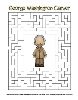Celebrate Black History Month - George Washington Carver  Search, Scramble&Maze!
