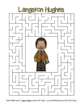 Celebrate Black History Month - Langston Hughes - Easy Maze! (color version)