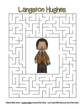 Celebrate Black History Month – Langston Hughes - Word Search, Scramble, & Maze!