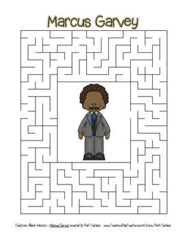Celebrate Black History Month - Marcus Garvey - Easy Maze! (color version)