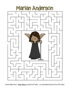 Celebrate Black History Month - Marian Anderson - Easy Maze! (color version)