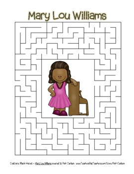 Celebrate Black History Month - Mary Lou Williams - Easy Maze! (color version)