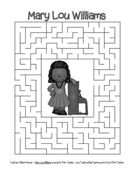 Celebrate Black History Month - Mary Lou Williams - Easy Maze! (grayscale)