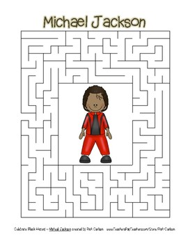Celebrate Black History Month - Michael Jackson - Easy Maze! (color version)