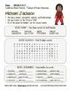 Celebrate Black History Month – Michael Jackson - Word Search, Scramble, & Maze!