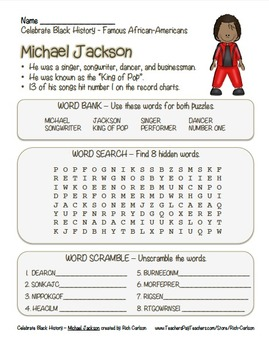 Celebrate Black History Month – Michael Jackson - Word Sea