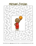 Celebrate Black History Month - Michael Jordan - Easy Maze! (color version)