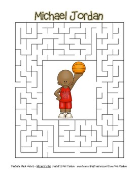 Celebrate Black History Month - Michael Jordan - Easy Maze! (color version)