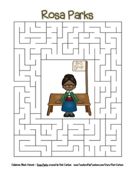 Celebrate Black History Month – Rosa Parks - Word Search, Scramble, and Maze!