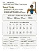 Celebrate Black History Month – Rosa Parks - Word Search,