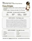 Celebrate Black History Month – Ruby Bridges - Word Search