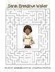 Celebrate Black History Month –Sarah Breedlove Walker -Search, Scramble, & Maze!