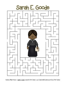 Celebrate Black History Month - Sarah E. Goode - Easy Maze! (color version)