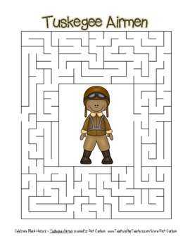 Celebrate Black History Month - Tuskegee Airmen - Easy Maze! (color version)