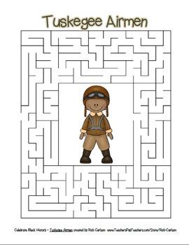 Celebrate Black History Month – Tuskegee Airmen - Word Search, Scramble, & Maze!