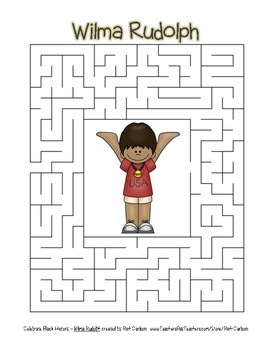 Celebrate black history month wilma rudolph easy maze color celebrate black history month wilma rudolph easy maze color version voltagebd Choice Image