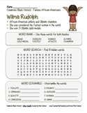 Celebrate Black History Month – Wilma Rudolph - Word Search, Scramble, and Maze!