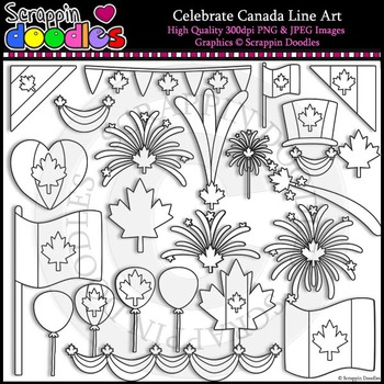 Celebrate Canada Clip Art & Line Art FREEbie :)