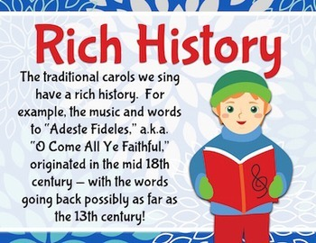 Celebrate Caroling!  Bulletin Board Kit for Christmas Carols and Holiday Songs