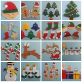 Celebrate Christmas: Counting to 5 at Christmas Time Felt