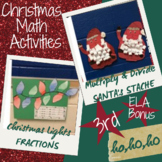 2 Math Christmas Craftivites: Fractions & Multiply plus ELA Text Features