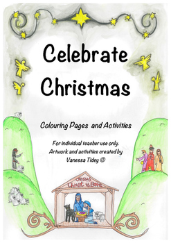 Celebrate Christmas: Nativity, Tree, Colouring in/ colorin