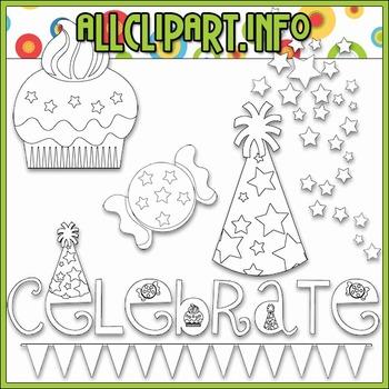 BUNDLED SET - Celebrate Clip Art & Digital Stamp Bundle
