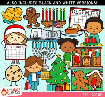Celebrate December Clip Art