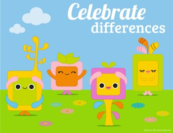 Celebrate Differences Classroom Poster 8 1/2 x 11
