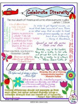 Celebrate Diversity Quotations Infographic