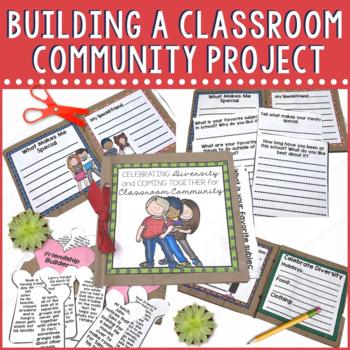 Building a Classroom Community Paper Bag Mini Book for Back to School