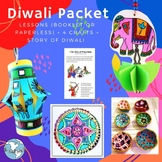 Diwali Festival of Lights - 4 Crafts, Lesson, Booklet, PowerPoint, Story Link